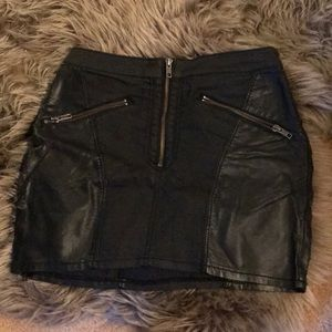 Dresses & Skirts - Leather miniskirt